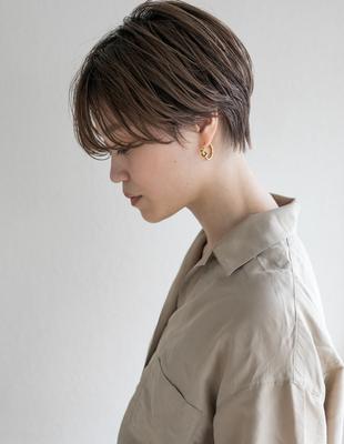 シルエットが綺麗なショートヘア(HR-413)