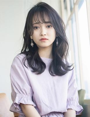 暗髪 くびれヘア 前髪パーマ(SY-430)