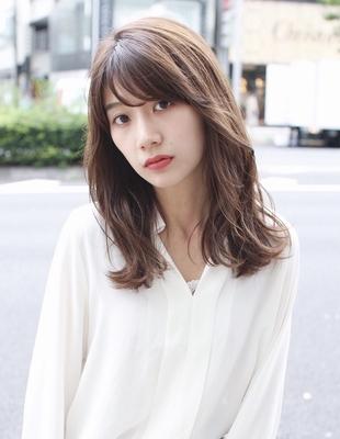 くびれヘア 前髪パーマ セミロング(SY-433)
