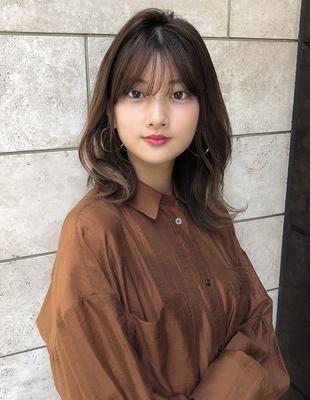 大人かわいい透け感前髪20代30代(SY-445)