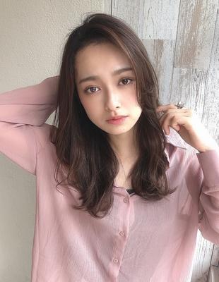 かきあげ前髪大人かわいいパーマ20代30代(SY-446)