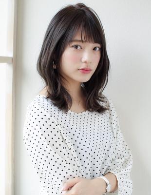 黒髪 くびれヘア 似合わせ小顔前髪20代30代(SY-448)