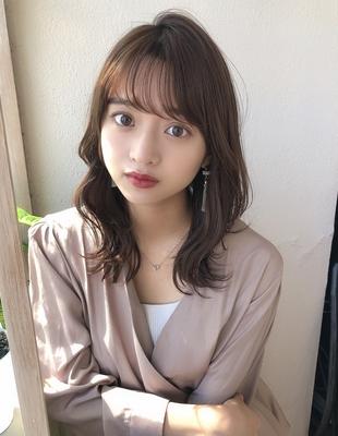 透け感前髪パーマくびれヘア(SY-452)