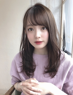 前髪パーマ小顔カットベージュカラー(SY-453)