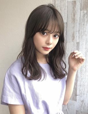 大人かわいいくびれヘア前髪パーマ(SY-455)