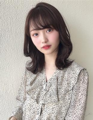 小顔前髪パーマくびれヘア20代30代(SY-458)