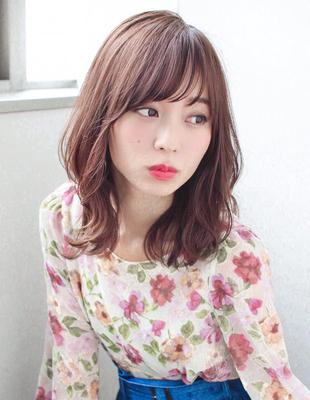 ひし形シルエットくびれヘア小顔前髪パーマ(SY-459)