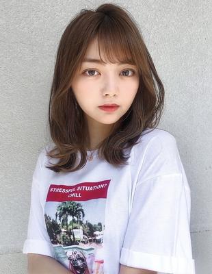 ひし形シルエットくびれヘア前髪パーマ(SY-460)