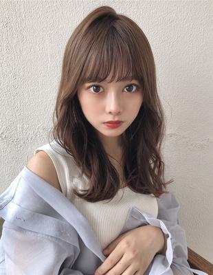 丸顔面長に合うくびれヘア前髪パーマ(SY-461)