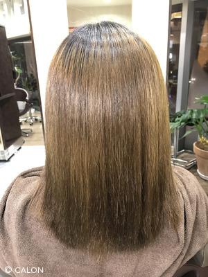 縮毛矯正で髪質から改善!ナチュラルストレートスタイル
