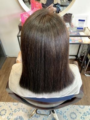 【40代・お悩み改善】酸性縮毛矯正/ストレートパーマでツヤ感アップ