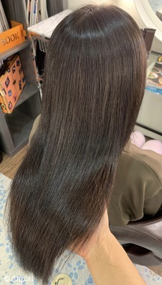 白髪染め 縮毛矯正 髪質改善