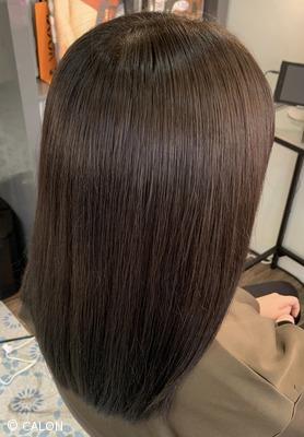 ブリーチ毛 縮毛矯正 チョコレートブラウンカラー