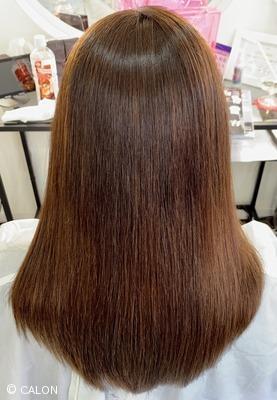白髪染め ハイライト履歴 縮毛矯正で髪質改善