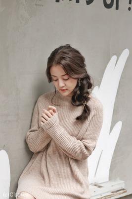 亞麻青棕色 編髮