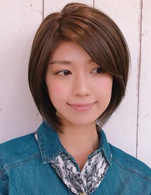 大人かわいい前髪長めのショートボブ(YK−297)