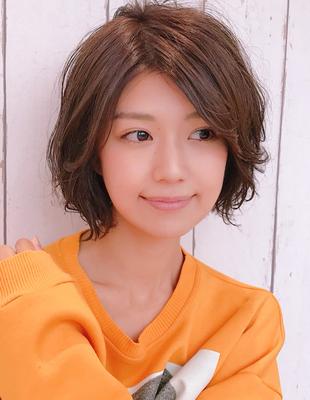 大人かわいい前髪長めカジュアルショートボブ(YK−306)