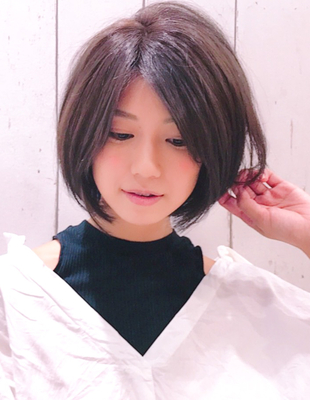 前髪長めひし形シルエットエアリーショート(YK−316)