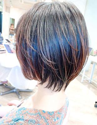束感ツヤ暗髪ショートボブ(YK−424)