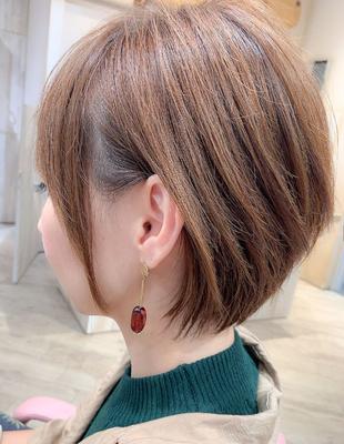 マニッシュワンサイド耳かけ小顔ショート(YK−432)