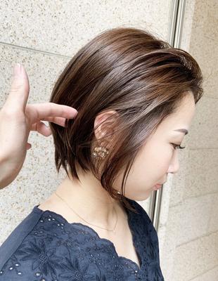 前髪長めのショートボブ(OM-34)