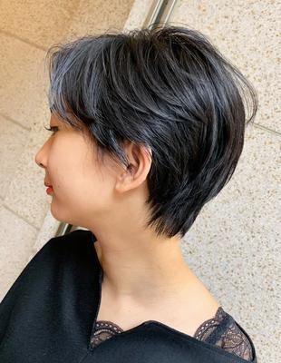 暗髪ハンサムショート(OM-37)