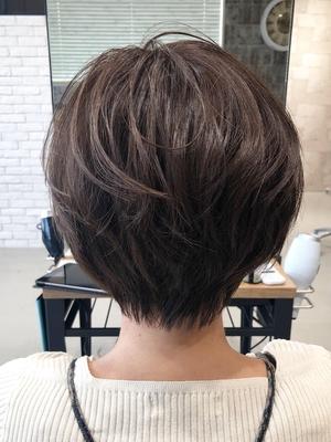 【The C 春木】襟足のくびれで首まわりをきれいに見せるショートヘア