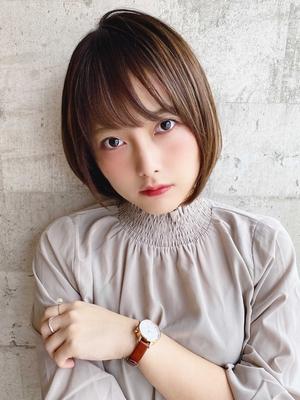 [The C 重田] 小顔 ひし形シルエット ショートボブ