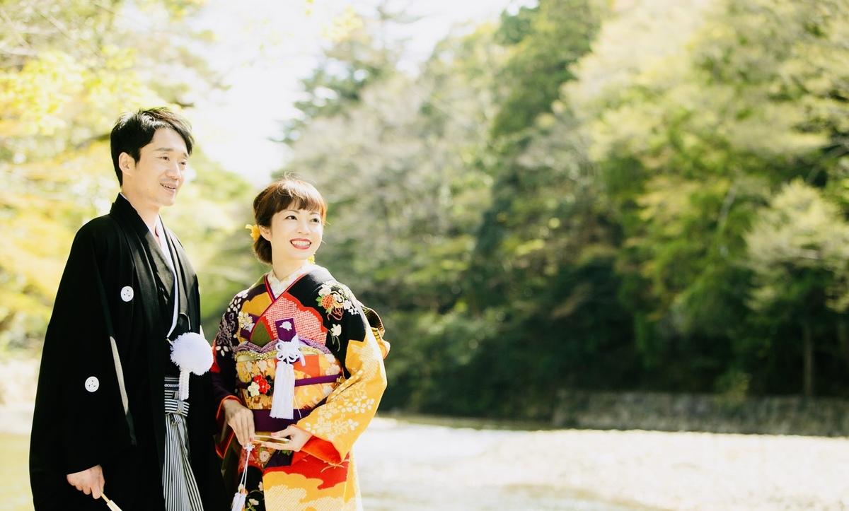 日本の聖地、伊勢神宮 結婚奉告参拝と花嫁の振袖