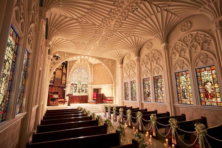 結婚式 モンテファーレ 大聖堂の天井