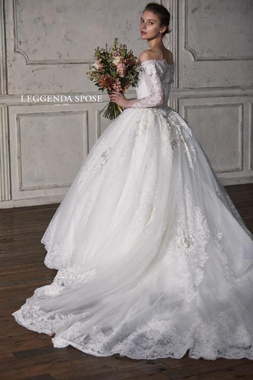 結婚式 モンテファーレ おすすめのウエディングドレスLS+20051OW