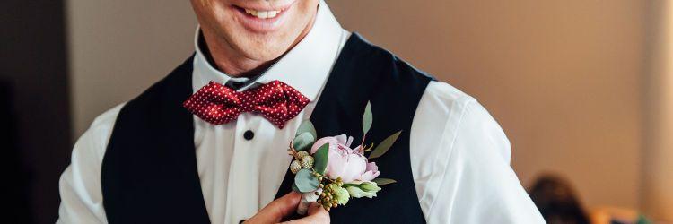 結婚式 新郎 1人ショット