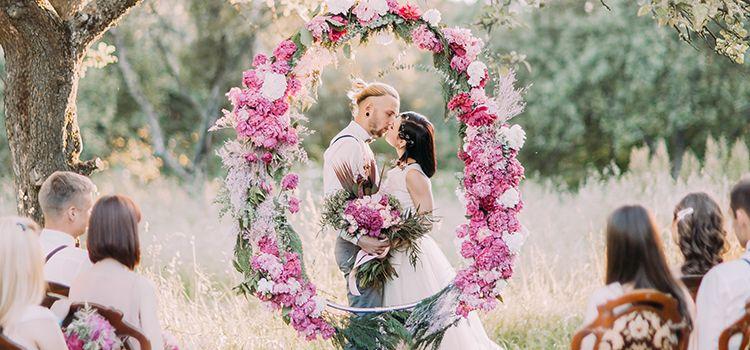 結婚式 花飾り