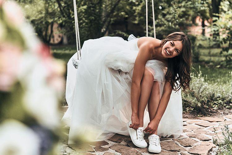ウェディングドレス,笑顔