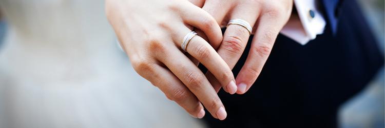 新郎新婦 指輪