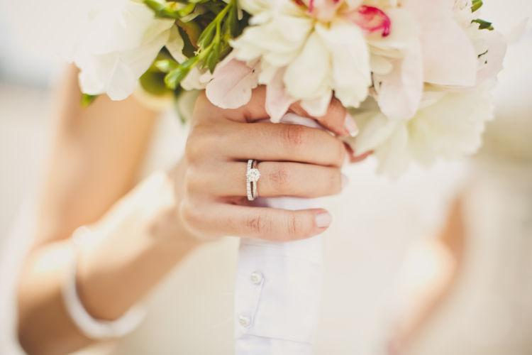 婚約指輪 ブーケ