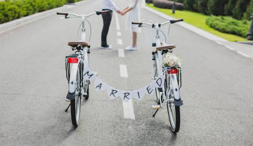 結婚式 自転車