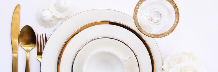 テーブルセット ゴールド