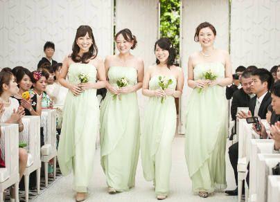 結婚式 ブライズメイド 新婦友人 花嫁付添人