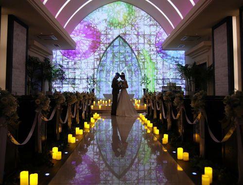結婚式 プロジェクションマッピング キリスト教式 教会式 演出