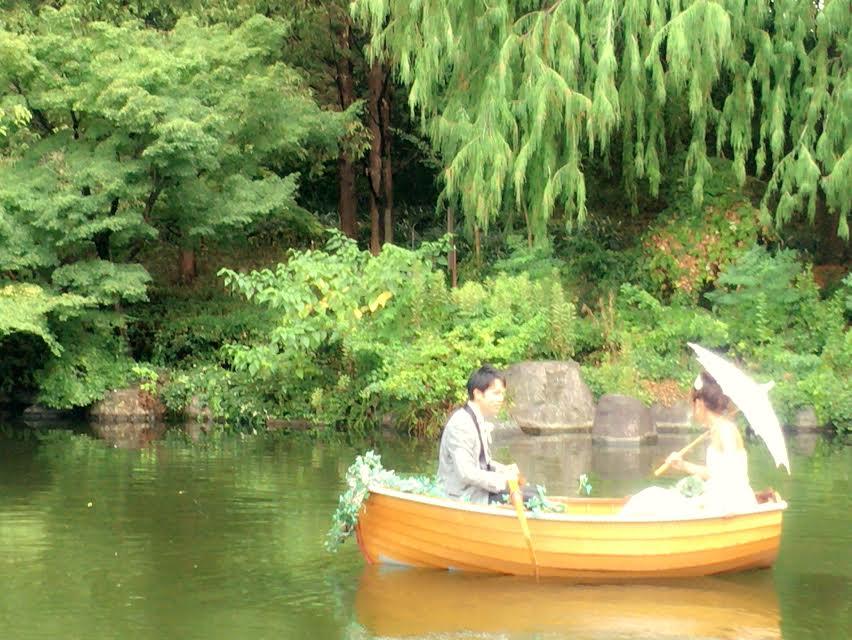 結婚式 ボート入場 演出 オリジナル 鶴見の森迎賓館