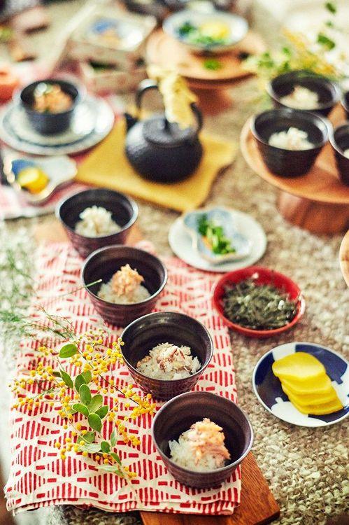 お茶漬けブッフェ 結婚式 演出 料理