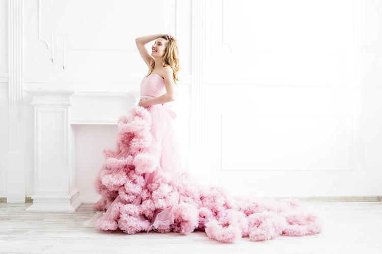 カラードレス(グラデーションドレス) かわいい ピンク