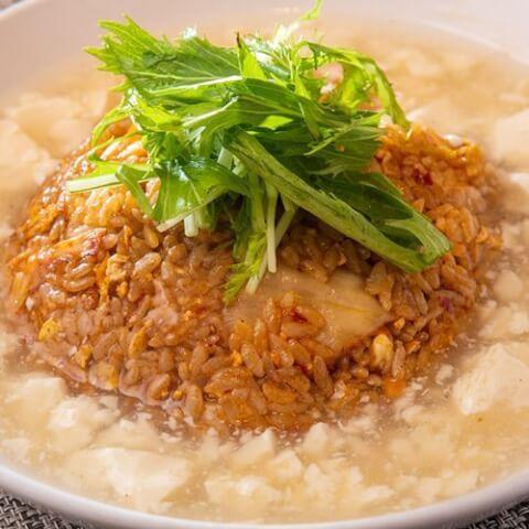 あんかけ豆腐のキムチチャーハン とうふ創菜dining蒼 外苑前 居酒屋 おすすめ 豆腐 和食