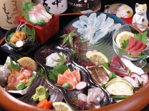 海鮮盛り合わせ 海猫屋 舞鶴 天神 福岡 居酒屋