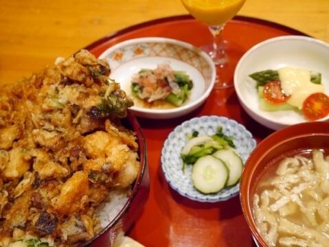 かき揚げ天丼 高瀬 代々木駅 ランチ 和食 和食