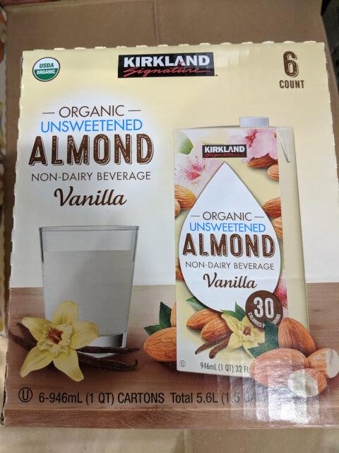 KS オーガニック アーモンドミルク バニラ味(無糖) 946ml×6本