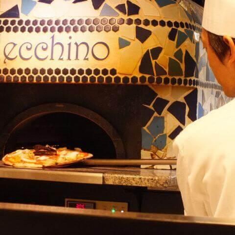 アルレッキーノのピザ