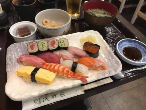池袋 寿司 浅野屋 ランチ にぎり寿司
