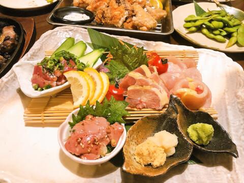 長崎 居酒屋 あや鶏 鶏の造り盛り合わせ